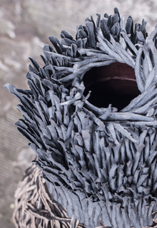 Bianca Severijns, paper art, paper artist, nesting vessel