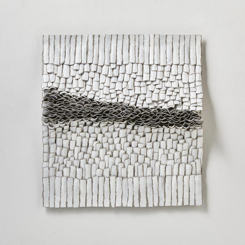 contemporary art reliefs, Bianca Severijns, contemporary art , modern art, paper art, movement and rhythm, contemporary paper artist,