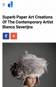 Bianca Severijns, Designyoutrust, art, paper art