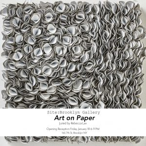 SiteBrooklynGallery, BiancaSeverijns, ArtonPaperexhibition, contemporarypaperart, paperart, contemporarypaerartist,