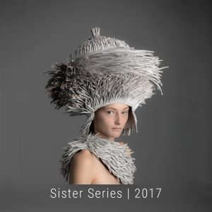Bianca Severijns, contemporary artist, contemporary paper art, paper art, contemporary paper artist, Sisters Series , head vessels