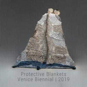 Bianca Severijns, paper art, protective blanket, contemporary art, contemporary artist, Venice Biennial 2019