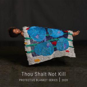 Bianca Severijns, paper art, paper artist, contemporary art relief, contemporary artist, contemporary art, Protective Blanket Series 2020, Thou Shalt Not Kill