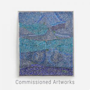 Bianca Severijns, paper art, paper artist, contemporary art relief, contemporary artist, contemporary art, Seaswirls 2021, commissioned artwork