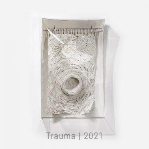 Bianca Severijns, paper art, paper artist, contemporary art relief, contemporary artist, contemporary art, Trauma 2021, Efendi hotel Acre
